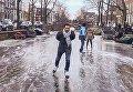 В Амстердаме впервые за много лет замерзли каналы
