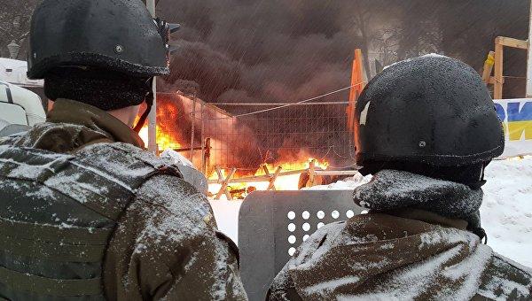 На месте столкновений под Радой, 3 марта 2018