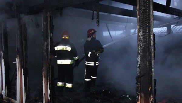 В Винницкой области горел рынок сувениров