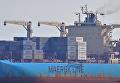 Судно известного датского перевозчика Maersk Line