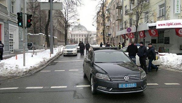На месте ДТП с участием кортежа Порошенко