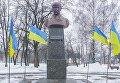 Бюст Тараса Шевченко в поселке Кринички Днепропетровской области