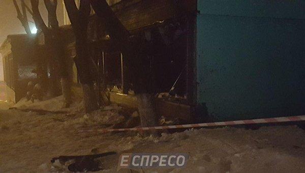 Взрыв в ресторане Лео в центре Киева