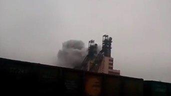 Пожар в шахте Запорожского железорудного комбината. Видео