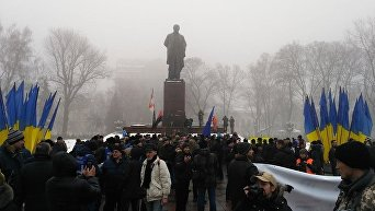 Ситуация у памятника Тараса Шевченко