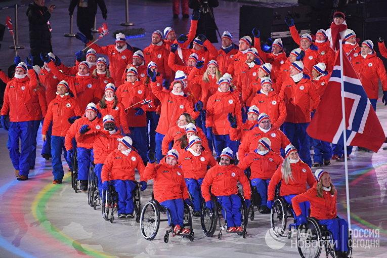 Церемония открытия XII зимних Паралимпийских игр