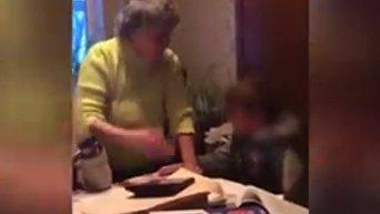 Репетитор избивала детей. Видео