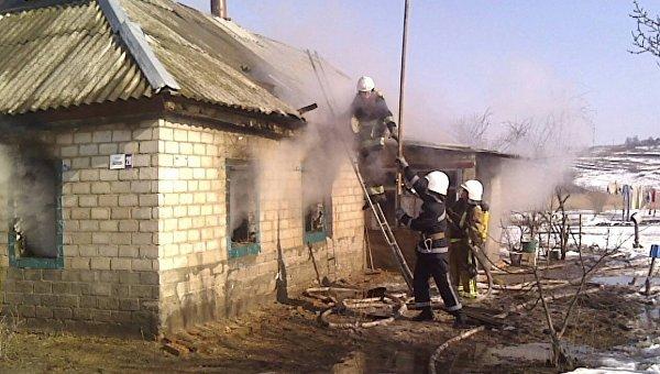 На месте пожара в Кировоградской области