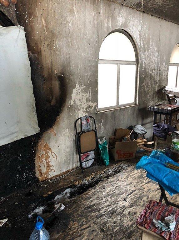 Поджог часовни УПЦ в Киеве