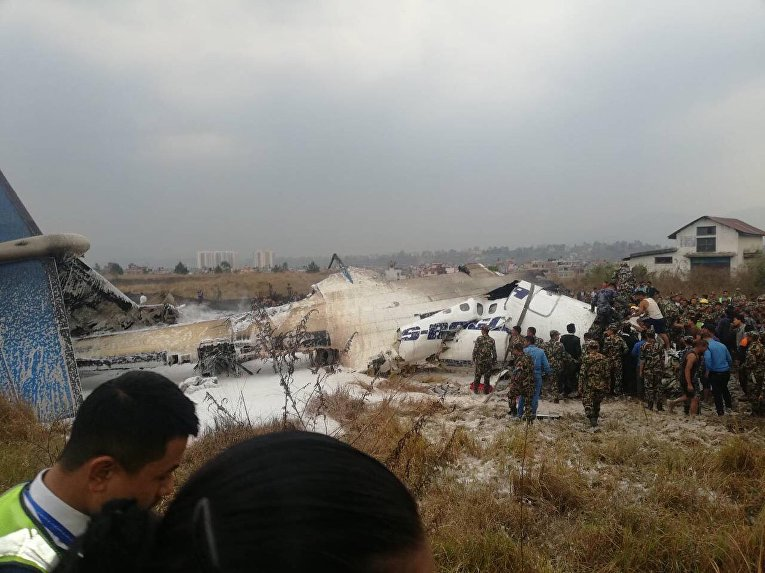 Крушение самолета US-Bagnla в Катманду