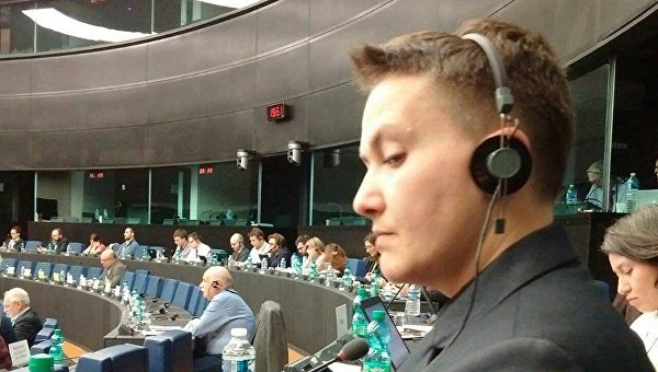 Надежда Савченко в Страсбурге