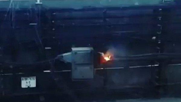 Возгорание на линии метро в Киеве