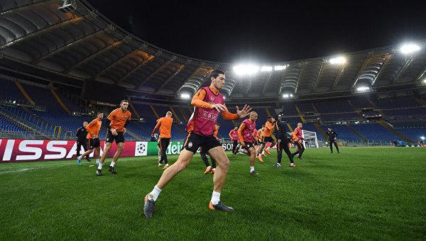 Игроки Шахтера на Стадио Олимпико в Риме провели тренировку перед матчем против Ромы