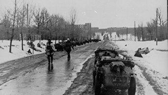 Немецкие войска входят в Харьков, 14 марта 1943