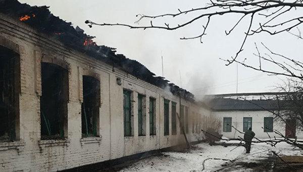 Пожар в школе Полтавской области