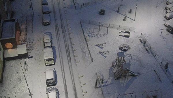 В Киеве в ночь на 15 марта выпал снег