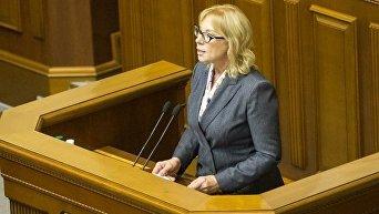 Людмила Денисова в сессионом зале Верховной Рады 15 марта 2018 года
