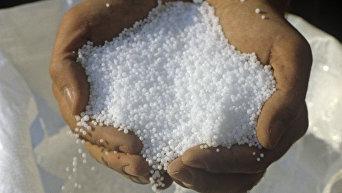 Карбамид - ценное минеральное удобрение. Архивное фото