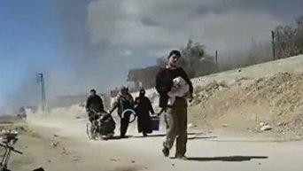 Вывод мирных жителей из Восточной Гуты в Сирии