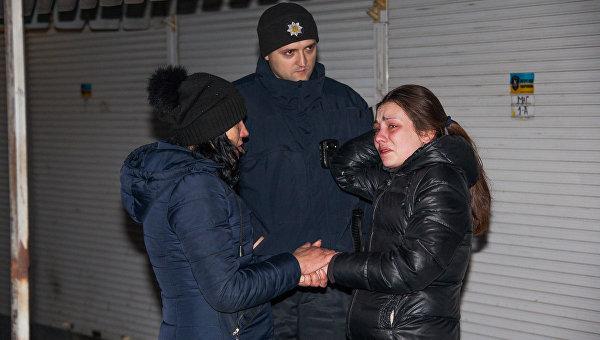 На месте избиения девушки в Днепре