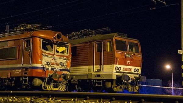 Столкновение поездов в Словакии