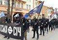 Националисты прошлись маршем по центру Ужгорода
