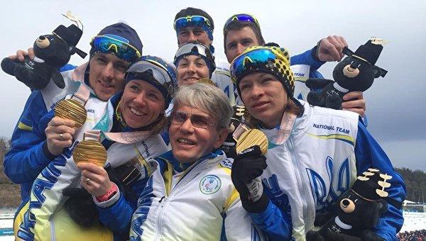 Украинские паралимпийцы в Пхенчхане