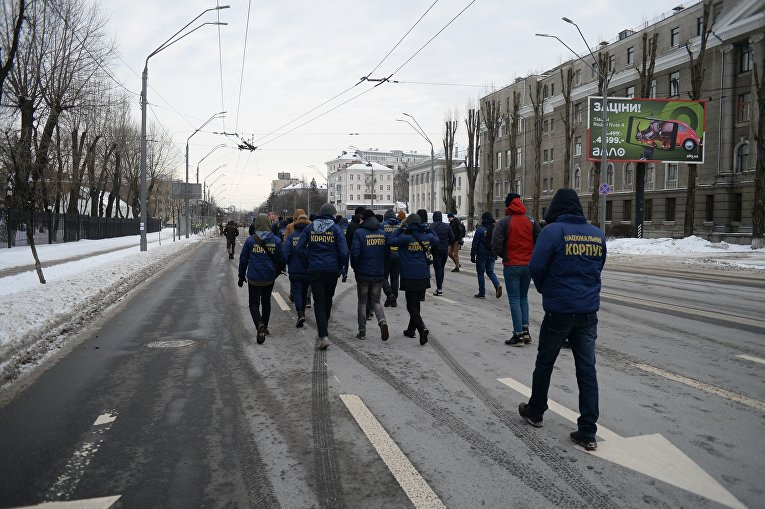 Ситуация под Российским посольством в Киеве 18 марта 2018