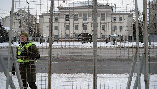 Ситуация под Российским посольством в Киеве. Архивное фото