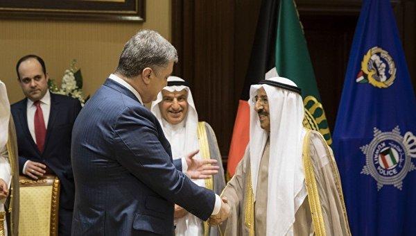 Встреча президента Украины Петра Порошенко и Эмира государства Кувейт шейха Сабах Аль-Ахмад Аль-Джабер ас-Сабах