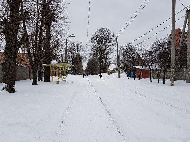 Днепр замело снегом