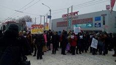 Харьковские продавцы перекрыли дорогу. Видео