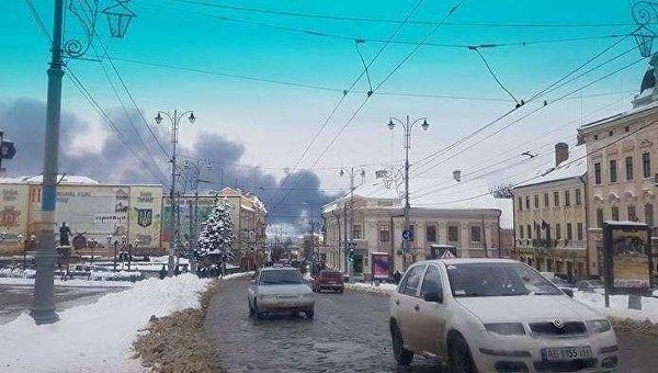 Пожар нарынке вЧерновцах: есть пострадавшие