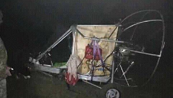 Летательный аппарат, на котором контрабандисты перевозили сигареты через украинско-польскую границу