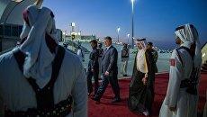 Прибытие Петра Порошенко с супругой в Кувейт