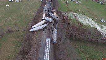 Столкновение двух поездов в Кентукки