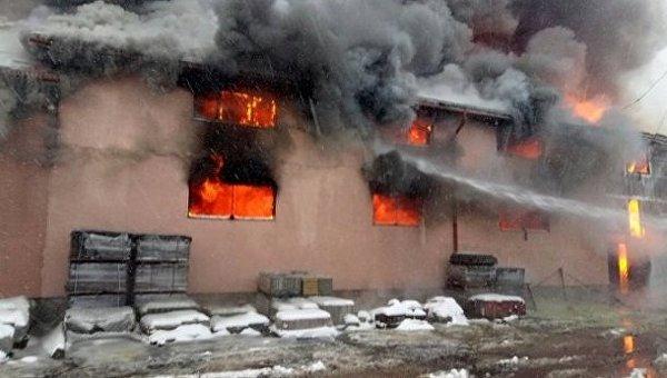 Пожар на Закарпатье