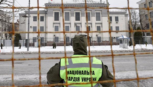 Здание посольства РФ в Киеве. Архивное фото