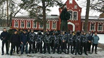 Cнос памятника Павке Корчагину в Боярке Киевской области