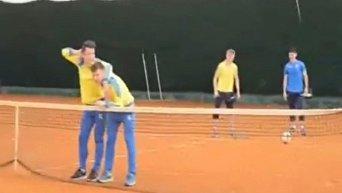Расстрел Коноплянки и Ротаня на тренировке сборной Украины