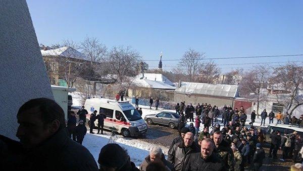 8b8627428797 КИЕВ, 21 мар — РИА Новости Украина. Церемония прощания с исполняющим  обязанности генерального директора КП