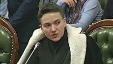 Надежда Савченко на заседании Регламентного комитета Верховной Рады