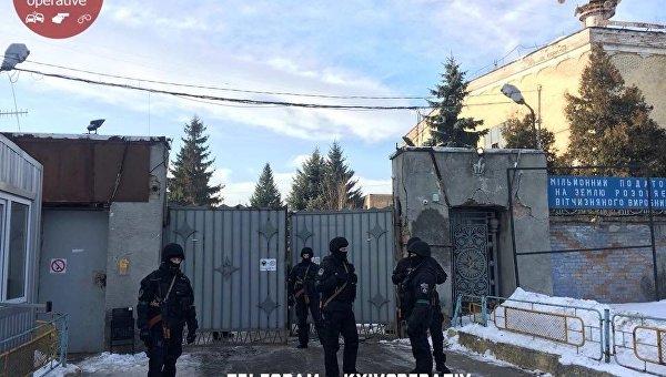 Полиция заблокировала Центральный штаб Нацкорпуса в Киеве
