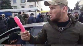 В Киеве ветеран АТО угрожал полицейскому фаллоимитатором
