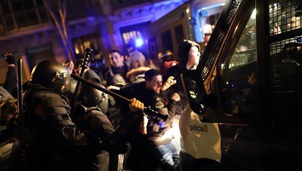 Столкновения в Барселоне, 23 марта 2018