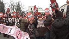 Масштабная акция протеста женщин в Варшаве. Видео