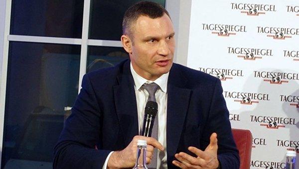 Виталий Кличко на панельной дискуссии в Берлине