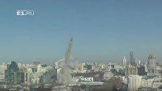 Недостроенную телебашню взорвали в Екатеринбурге