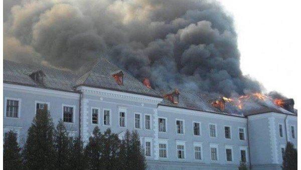 Под Львовом горел бывший коллегиум Ордена иезуитов