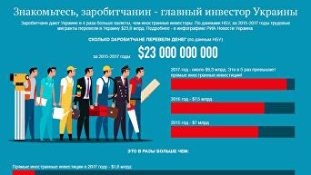 Заробитчанин - главный инвестор Украины. Инфографика